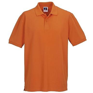 Russell Athletic - Polo - para Hombre Naranja Naranja X-Large ...