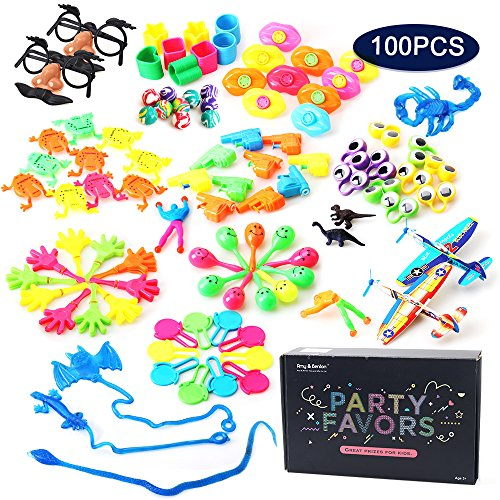 Amy&Benton 100 PCs Prize Box Toys for Classroom Teacher, Pinata Filler Toy Assortment for Boys, Kids Birthday Party Favors for Treasure Box Prizes
