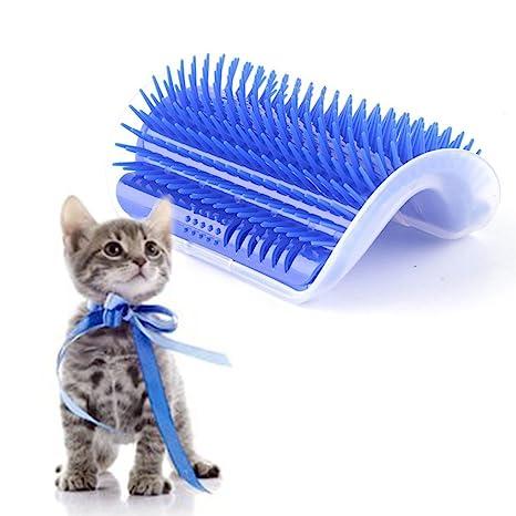 EBILUN Cepillo de masaje para gatos y gatos (pelo largo y corto), diseño
