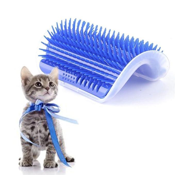 EBILUN Cepillo de masaje para gatos y gatos (pelo largo y corto), diseño de gato: Amazon.es: Productos para mascotas