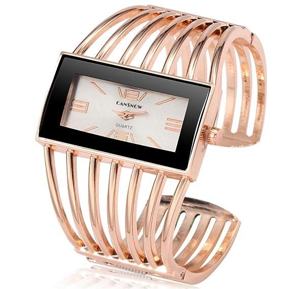 PIJSOADM Relojes para Mujer Top Luxury Bracelet Ladies Watch Unique Ladies Watch All Steel Watch Ladies Watch Clock: Amazon.es: Relojes