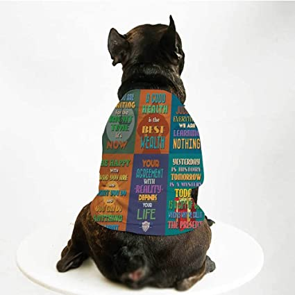 Amazon com : YOLIYANA Quote Printing Pet Suit, Collection of