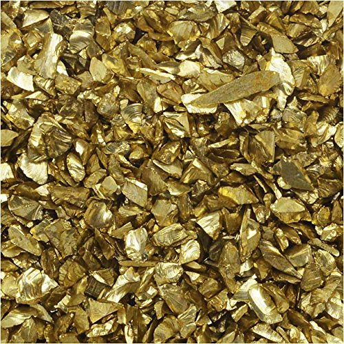 Gold Glue Glass (Judikins Glitter Roxs, Shard Glass, 14 Gram Container, Dollar Gold)