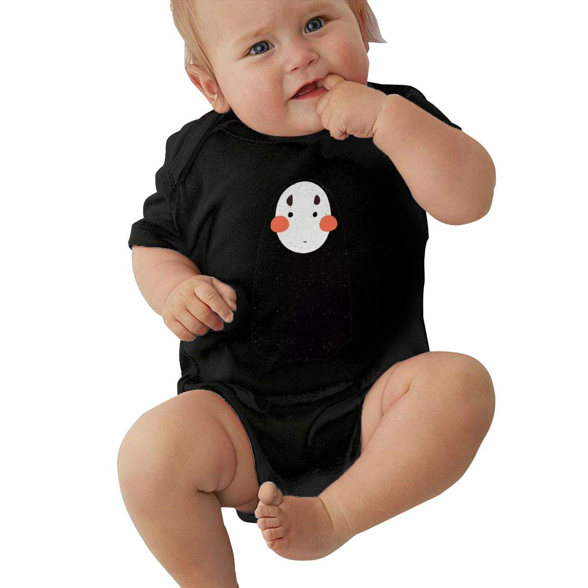 LOUHART Baby Round Neck Short Sleeve Romper Spirited Away Funny Jumpsuit Black