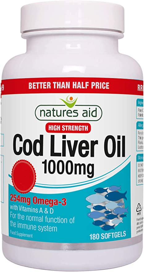 Imagen deNatures Aid 1000mg High Strength Cod Liver Oil - Pack of180 Capsules