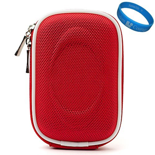 Nylon Red Camera Case Accessory for Canon PowerShot IXUS 1000 HS IXY 50S SD4000 IS IXUS 300 HS IXY 30S SD3500 IS IXUS 210 IXY 10S SD1400 IS IXUS 130 IXY 400F SD1300 IS IXUS 105 IXY 200F SD940 IS IXUS 120 IS SD980 IS IXUS 200 IS SD960 IS IXUS 110 IS SD1200 IS IXUS 95 IS SD780 IS IXUS 100 IS Compact Digital Cameras
