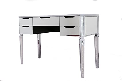 Impact Vanity Mirror Makeup Vanity Table 5 Drawer Desk