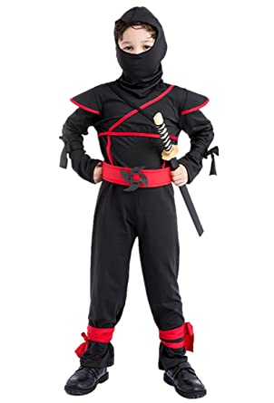 Amazon.com: HUGGUH Japanese Ninja Masked Warrior Halloween ...