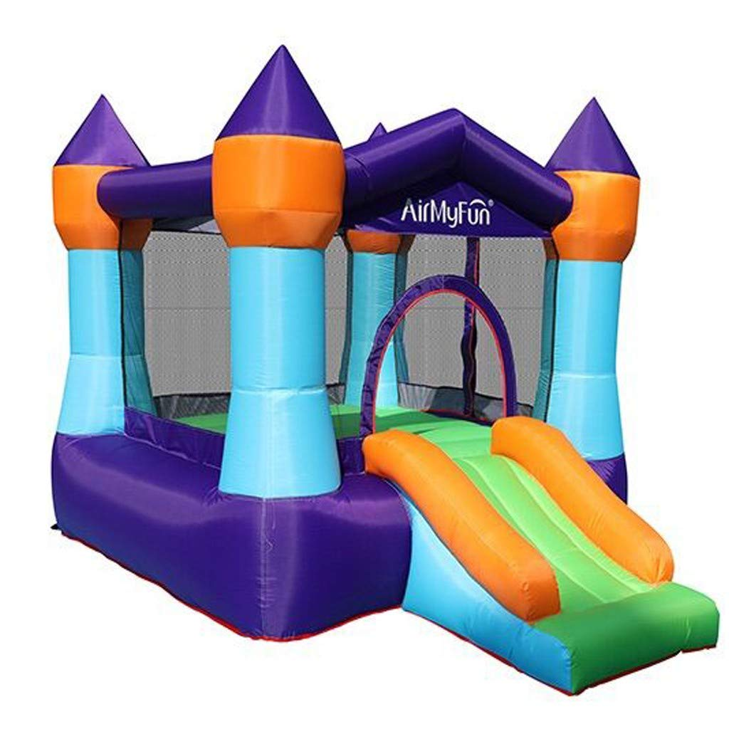 Medium Bouncy Playhouse for Kids Jumping Castle with Slide Inflatable Bounce House with Air Blower Durable Sewn and Extra Thick Family Backyard Indoor Outdoor Bouncer