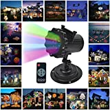 holiday outdoor projector - LOHOME Outdoor Light Projector - Snowflakes Santa Claus Spotlight Lamp Wall and Tree Christmas Holiday Garden Landscape Decoration Projector Light Including 16 Lens