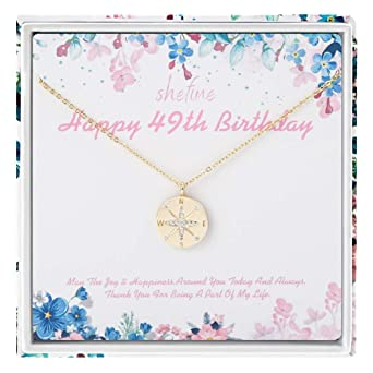 Regalo para el 49 cumpleaños para mujer - Collar de plata de ...