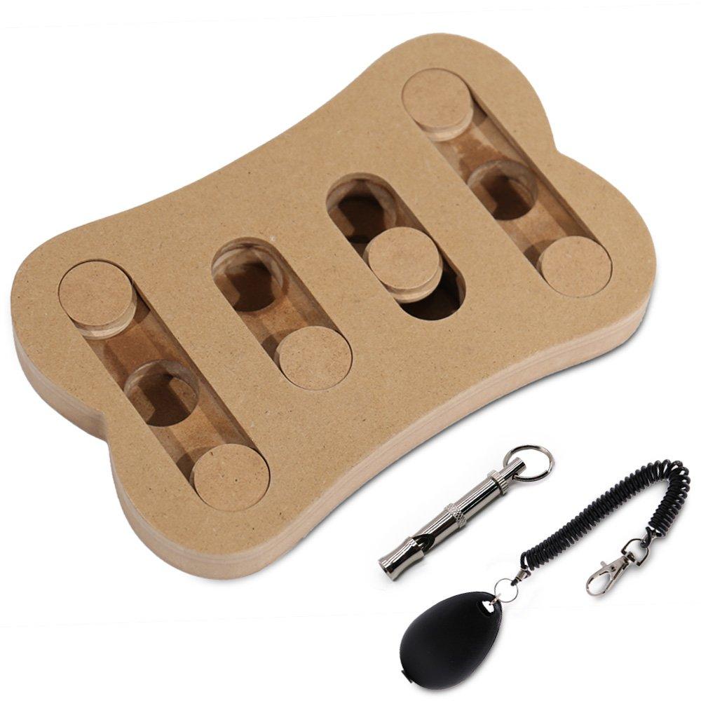 PAWZ Road Dog Puzzle Dog Whistle Dog Clicker Set Designed Brain Behavior Training