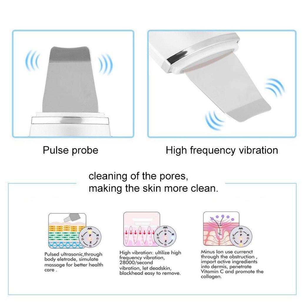 Dispositivo ultrasónico de limpieza de la piel facial
