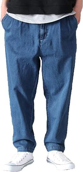 ファストカラーズ ワイドパンツ シェフパンツ メンズ ワイドテーパードパンツ ストレッチ ワイド デニム クッキングパンツ