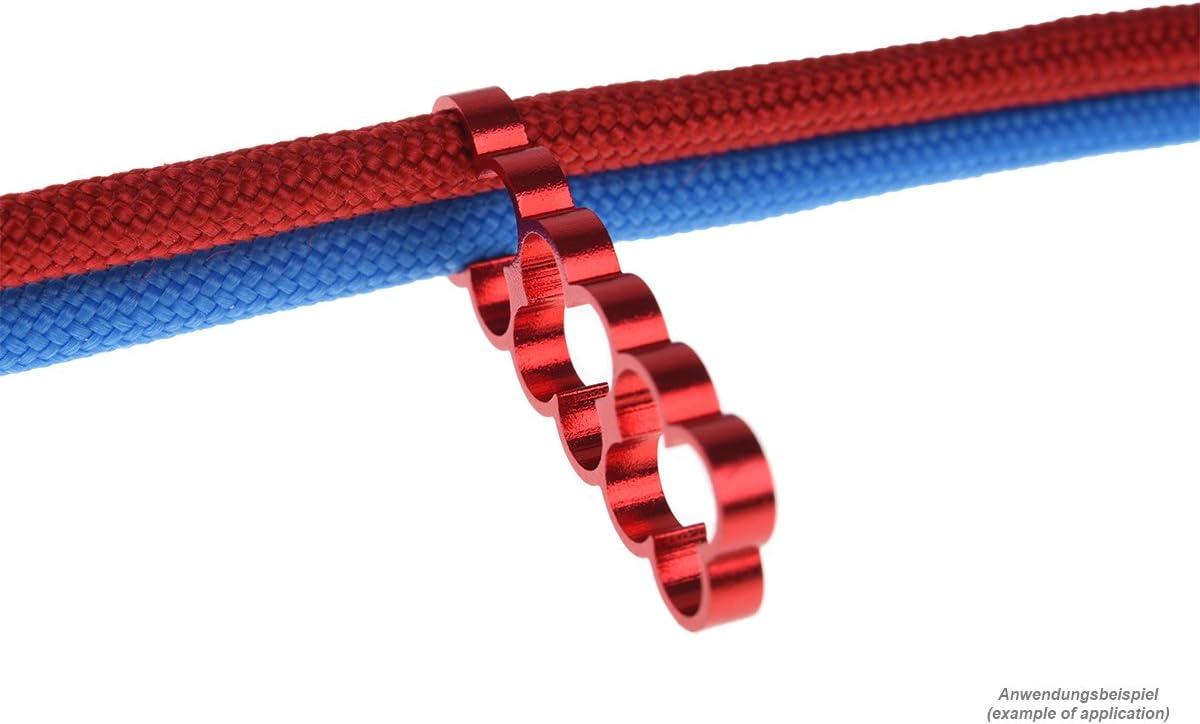 4 pcs Modding Eiskamm Alphacool 24781 Eiskamm Alu X12-4mm red