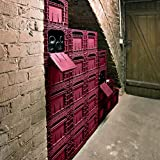 Domaine Weinbox Wine Crates, 3-Pack Burgundy