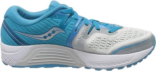 Saucony Guide ISO 2, Zapatillas de Running para Mujer, Azul Blanco ...