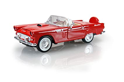 Amazon 1956 Ford Thunderbird Red Motormax 124 Scale