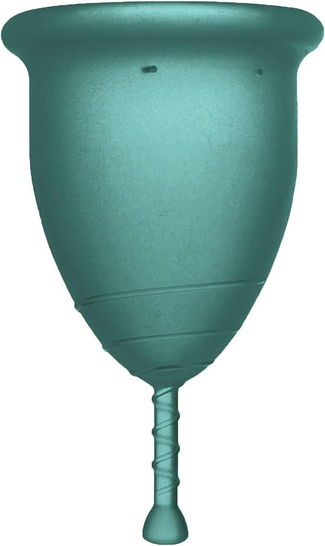 Rainbow Cup - Copa menstrual de silicona médica sin látex ni aditivos, cómoda, respetuosa con el medio ambiente, segura, disponible en varios ...