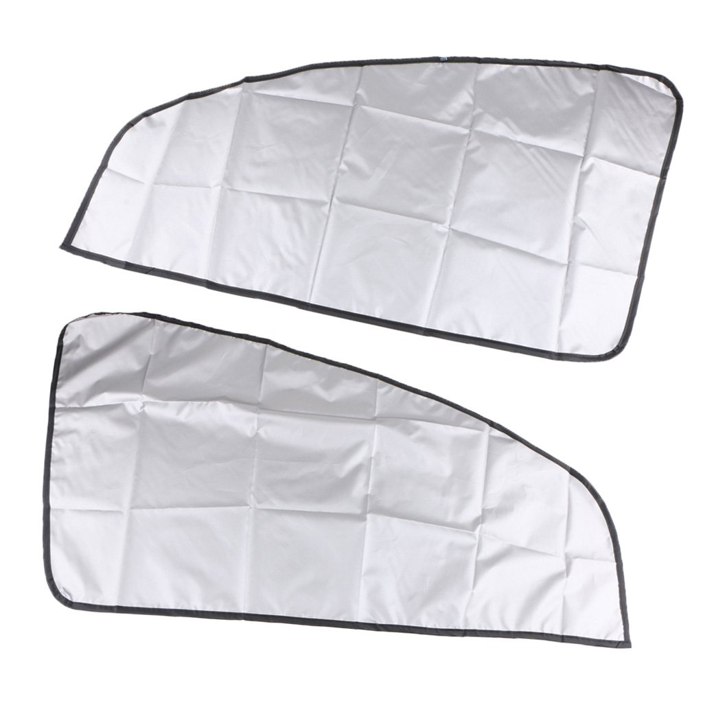 MagiDeal 1 Pair Magnetic Sunshade Shield Curtains Double Sides For Car Oblique Window