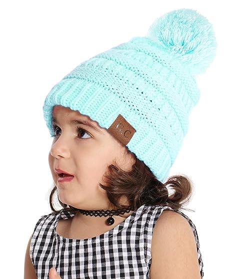 Sombrero Bebé Niño Invierno Cálido Gorro Gorra con Pom de Punto Beanie Warm  Cap Otoño Invierno 2ced99aa779