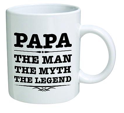 4cc5e104a Amazon.com: Funny Mug 11OZ - Papa, the man, the myth, the legend ...