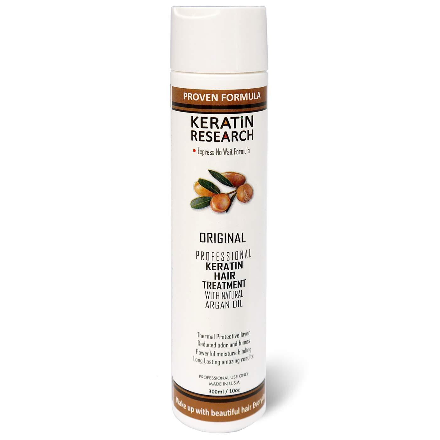 Brazilian Keratin Hair Treatment 300ml Professional Complex Blowout with Argan Oil Improved Formula and Fragrance Keratin Research Queratina Keratina Brasilera Tratamiento by KERATIN RESEARCH