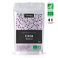 CHIA MOULU BIO, farine de graines de chia Bio certifié | Sachet de 200g | Superfood (superaliment) minceur 100% Naturel & Végétal | Perte de poids, Pouvoir de satiété, Riche en fibres solubles, Favorise la digestion | Riche en vitamines et minéraux : Omégas 3 et 6, calcium, magnésium, zinc, fer, potassium | Idéal pour pudding de chia, smoothie healthy, recettes saines | Conditionné en France