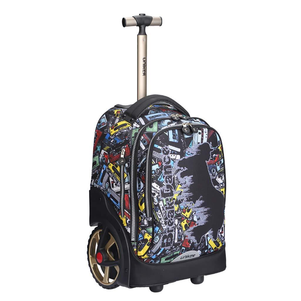 車輪付きトロリーバックパックキャスター付きバックパックナイロンローリングバックパック旅行エグゼクティブモバイルオフィスビジネスハンドキャビン荷物について   B07NVHRL43