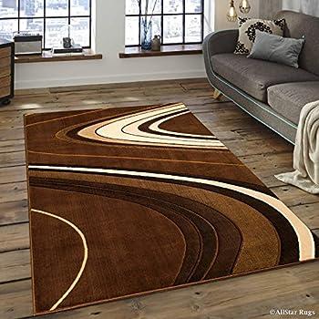 Amazon.com: Allstar zona moderna café oscuro alfombra con ...
