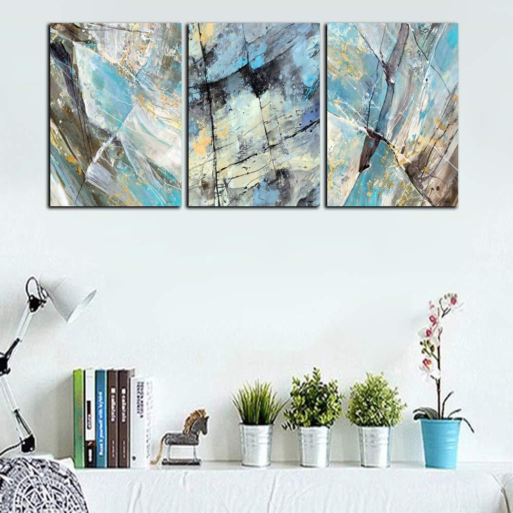 LW Semplice Colore Password Acquerello Arte Appendere Pittura Muro dArte Pittura 3 Pezzi Muro Art Deco Home Office Decorazione-Nessuna Cornice,A