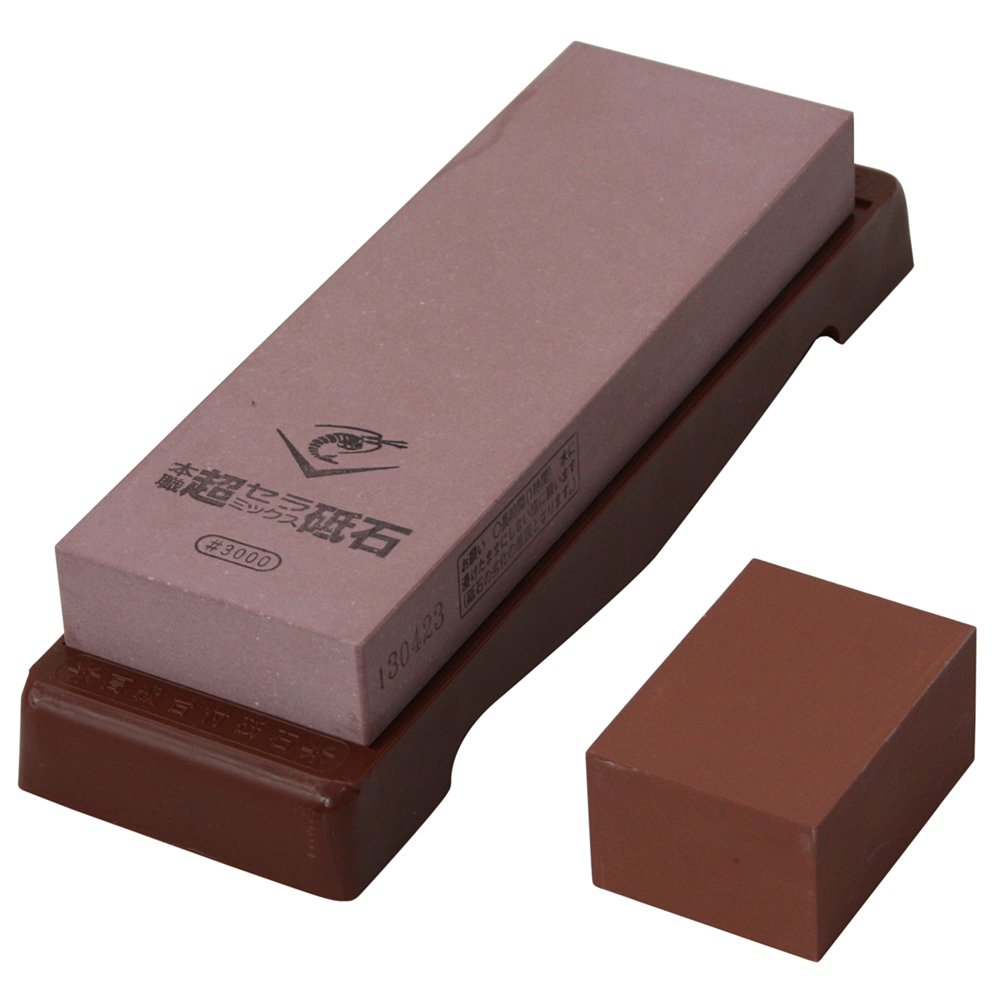 Chosera 3,000 Grit Stone - with base by Naniwa Chosera