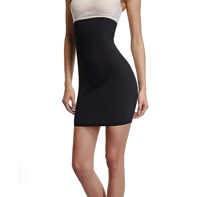 9acce1aa2b Joyshaper Half Slips Shapewear for Women Shaping Under Skirt Dress Slip  High Waisted Tummy Control Slimming Waist Cincher Trimmer Trainer Girdle  Seamless ...