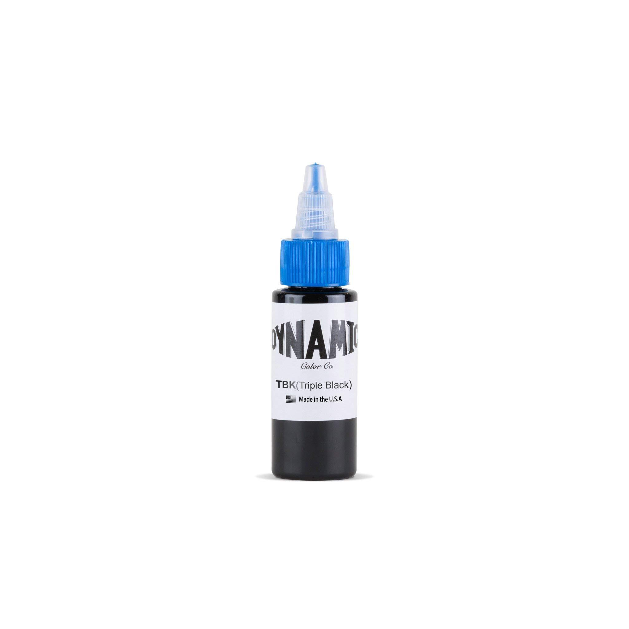 One 1oz Bottle of Dynamic Triple Black Tattoo Ink