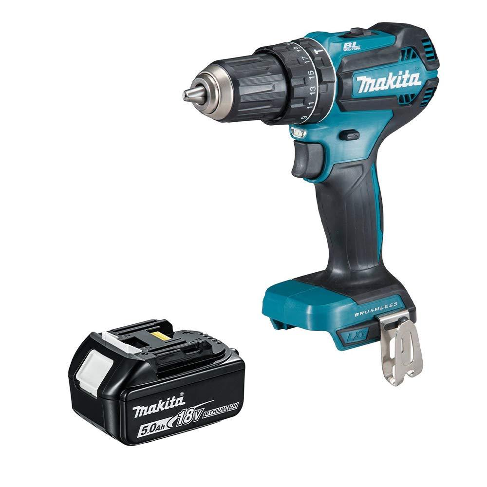 MAKITA DHP485Z 18V LXT BRUSHLESS Combi Drill 1 x 5Ah Battery BL1850B