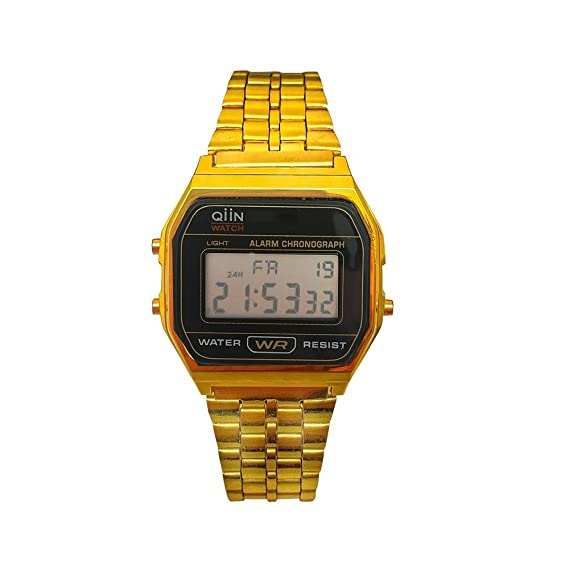 QIIN Reloj Mujer de Digital con Correa en Acero Inoxidable 0312CAUS
