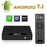 TV Box Android 7.1 - VIDEN W1 Smart TV Box [2018 Ultima Generazione] Amlogic S905W Quad-Core, 1GB RAM & 8GB ROM, Video 4K UHD H.265, 2 Porte USB, HDMI, WiFi Web TV Box