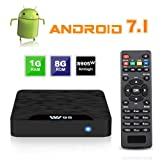 TV Box Android 7.1 - VIDEN W1 Smart TV Box [2018 Ultima Generazione] Amlogic S905W Quad-Core, 1GB RAM & 8GB ROM, Video 4K UHD H.265, 2 Porte USB, HDMI, WiFi Web TV Box