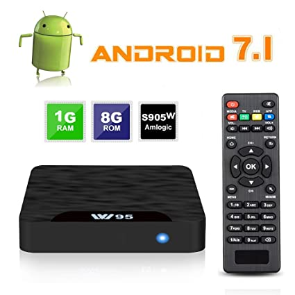 7 1 Android TV Box - J-DEAL W1 Newest Android 7 1 Smart TV Boxsets, Amlogic  S905W Quad-Core, 1GB RAM & 8GB ROM, 4K Ultra HD, Support Video Encoder for