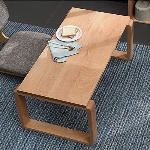 畳テーブル、 ブナベイウィンドウ表畳表日本のベイウィンドウ表茶表パソコンデスクベージュ 信頼性と長期耐久性 (Color : Beige, Size : 60x40x40cm)