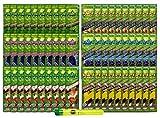 Bundle - 61 Items - Juicy Flavored Hemp Wraps Sampler (6 Flavors, 10 Packs of Each) with Rolling Paper Depot Doobtube