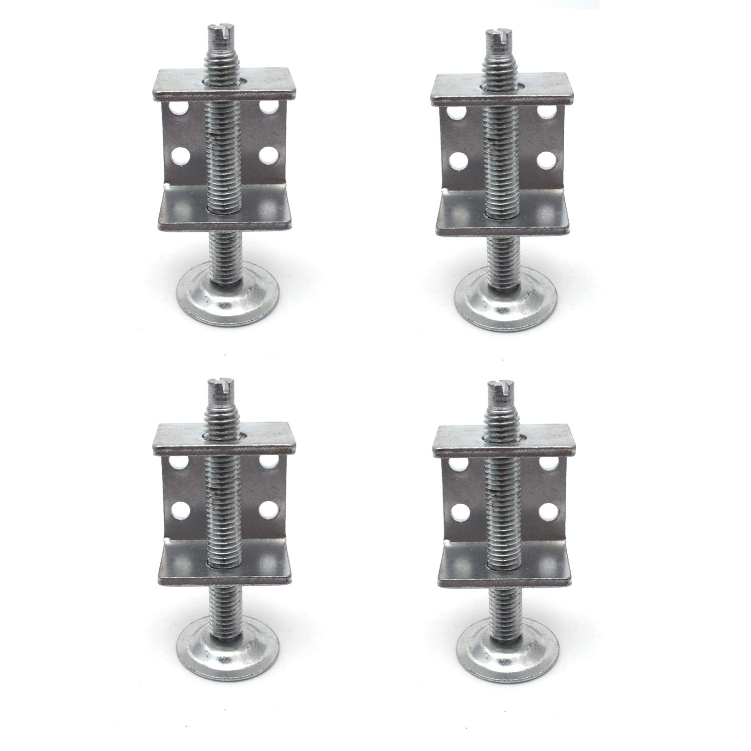 Antrader 4 Pack Table Chair Sofa Cabinet Adjustable Heavy-Duty Furniture Leg Leveler Furniture Accessory 8000 LB Capacity