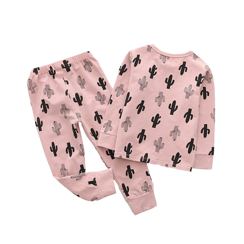 MAOMAHREWW Kids Boys Girls 2pcs Pajamas Outfit Set Cotton Printed T-Shirt+Pants