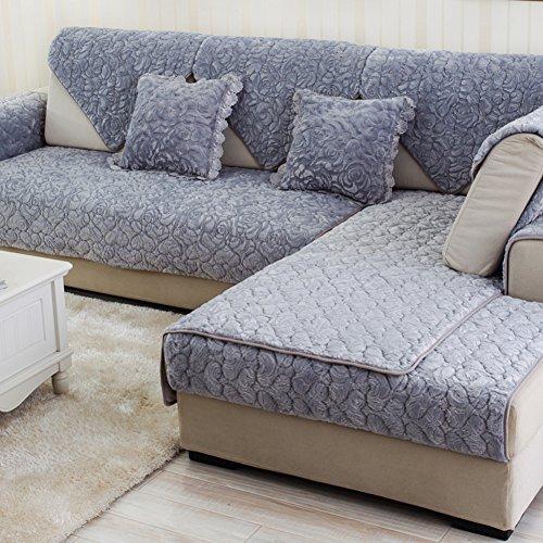 771 Sectional - SE7VEN Sofa Cushions Winter Thicken European Style Fabric Sofa Towel, Modern Simple Slip Towels-B 90x160cm(35x63inch)