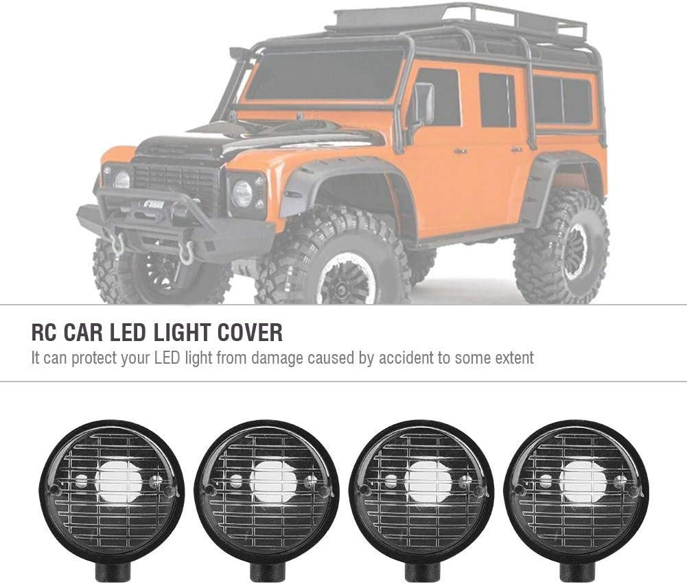 Dilwe Rc Car Light Cover 4 Stück Led Light Shade Universal Lampenschirm Für Hsp Redcat Axail Scx10 Rc Modell Crawler Led Light Kit Kreis Form Spielzeug
