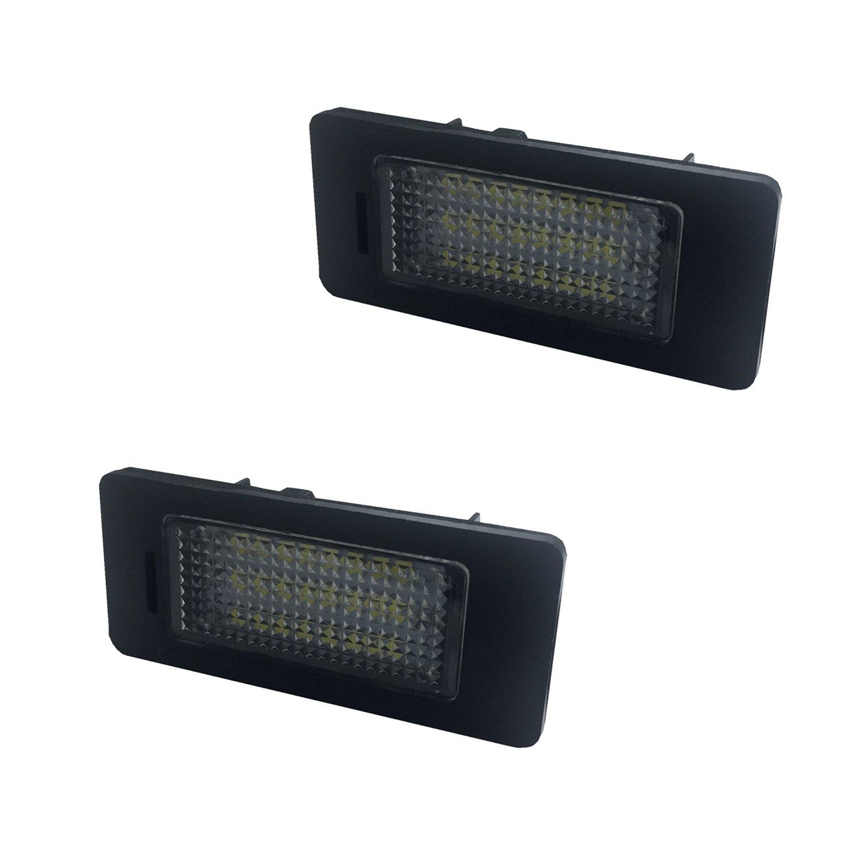 ZTMYZFSL Placa LED de 2 piezas E39 E60 E70 E90 l/ámpara de matr/ícula Plug /& Play 1210 LED 24-SMD luz de matr/ícula 12V DC xen/ón blanco 6000K para reemplazo