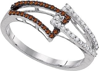Jewels By Lux Anello a Fascia Diamond collegato 1/4 Cttw per Donne