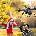 Holy Stone F181G Drone with Camera Live Video for Kids Beginners Adults FPV Quadcopter HD 720P 5.8GHz Transmitter, RC Helicopter Gift Airplane with Altitude Hold 3D Flip Headless Mode, Modular Battery by Holy Stone