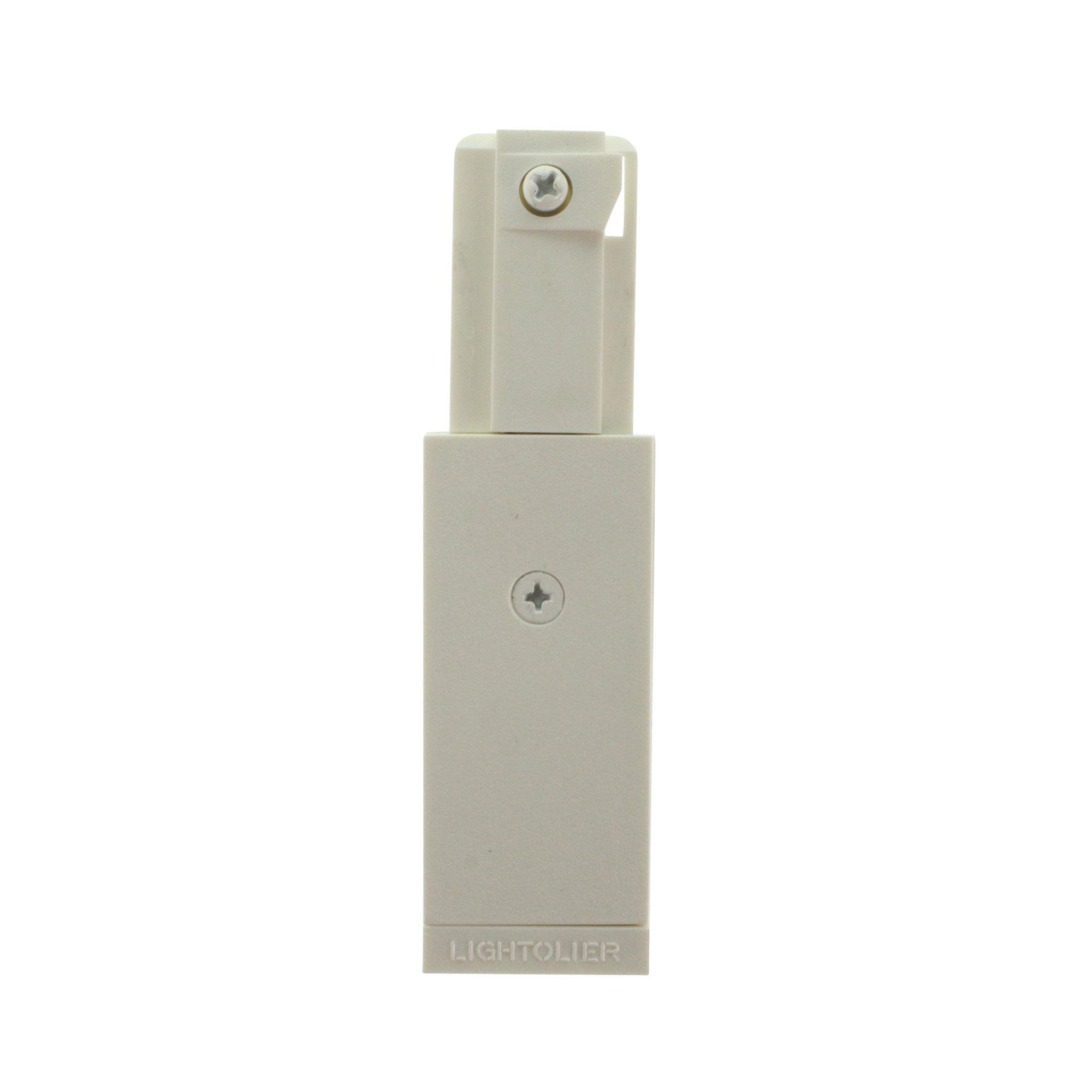 Lightolier 6048WH Lytespan Track Lighting Basic Live-End Power Feed, WHite