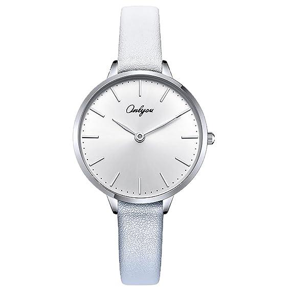 Onlyou marca de lujo reloj hombres ocio Simple populares de colores las mujeres reloj quartz-